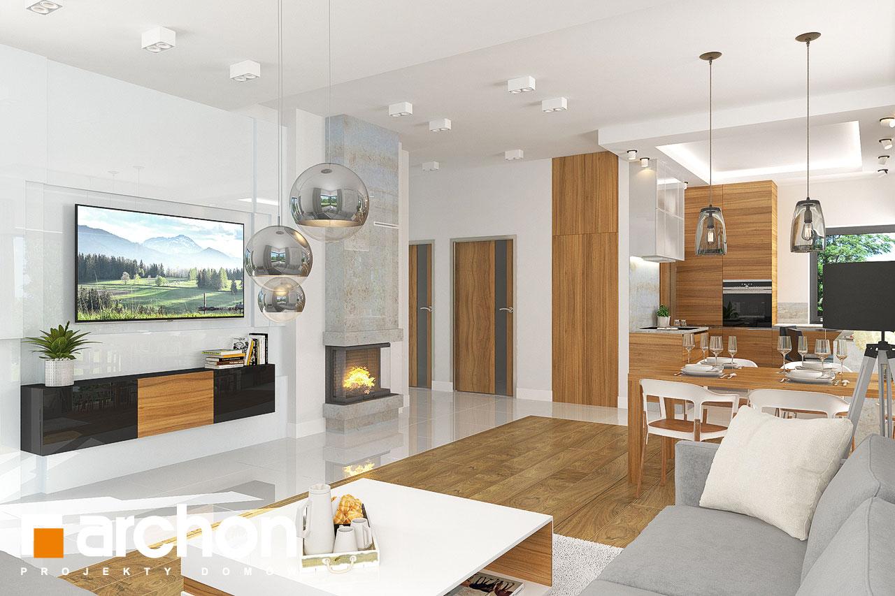 Проект будинку ARCHON+ Будинок в грушках денна зона (візуалізація 1 від 1)