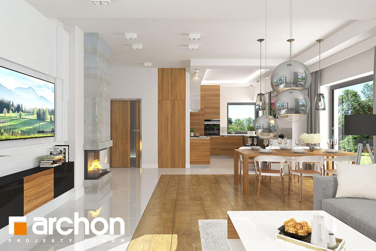 Проект будинку ARCHON+ Будинок в грушках денна зона (візуалізація 1 від 3)