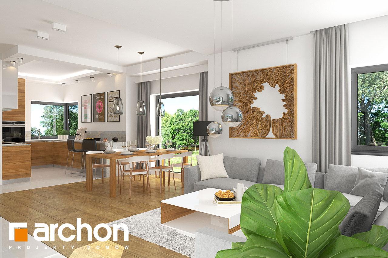 Проект будинку ARCHON+ Будинок в грушках денна зона (візуалізація 1 від 4)