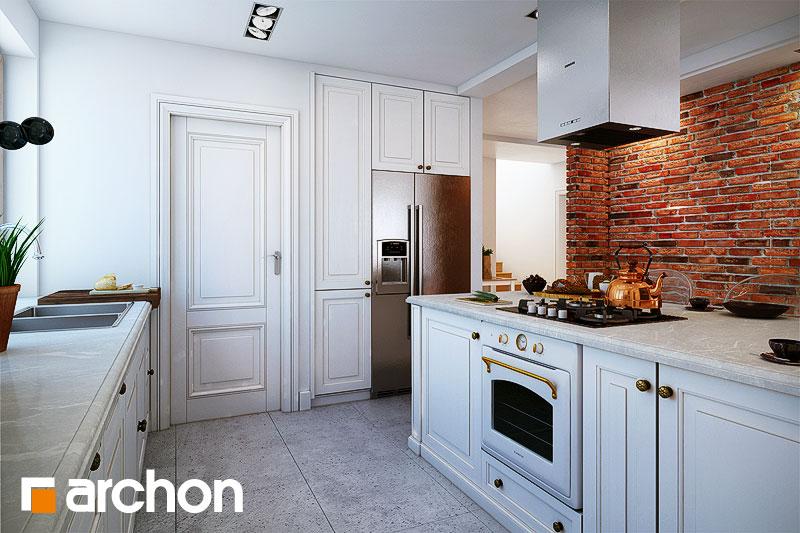 Проект будинку ARCHON+ Будинок в каннах візуалізація кухні 1 від 2