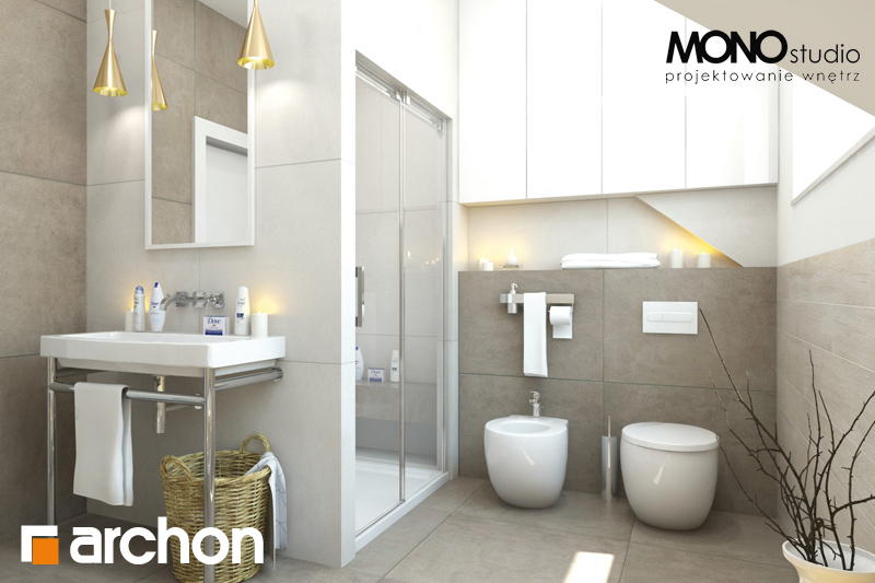 Проект будинку ARCHON+ Будинок в каннах візуалізація ванни (візуалізація 1 від 3)