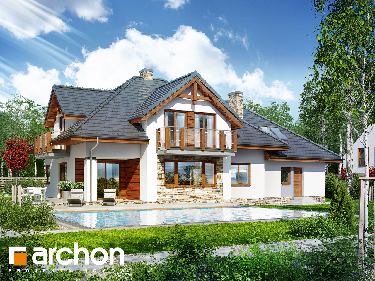 Проект будинку ARCHON+ Будинок в каннах Вид 2