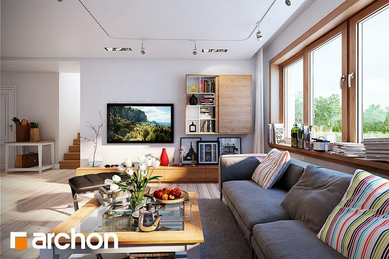 Проект будинку ARCHON+ Будинок в каннах денна зона (візуалізація 1 від 1)