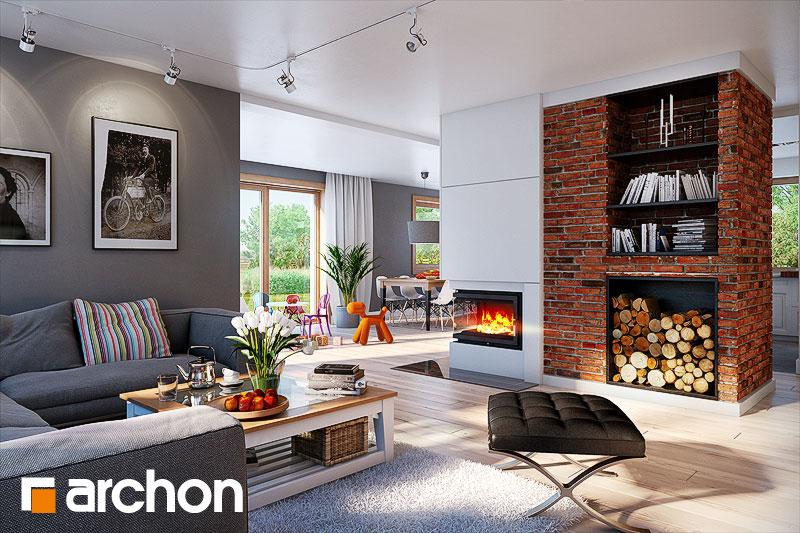 Проект будинку ARCHON+ Будинок в каннах денна зона (візуалізація 1 від 2)