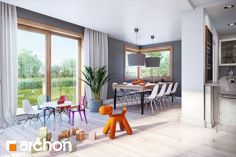 Проект будинку ARCHON+ Будинок в каннах денна зона (візуалізація 1 від 3)