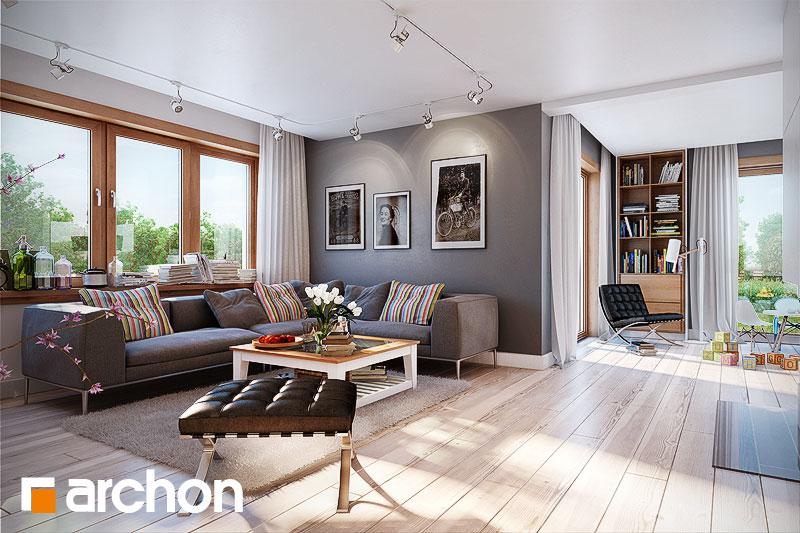 Проект будинку ARCHON+ Будинок в каннах денна зона (візуалізація 1 від 4)