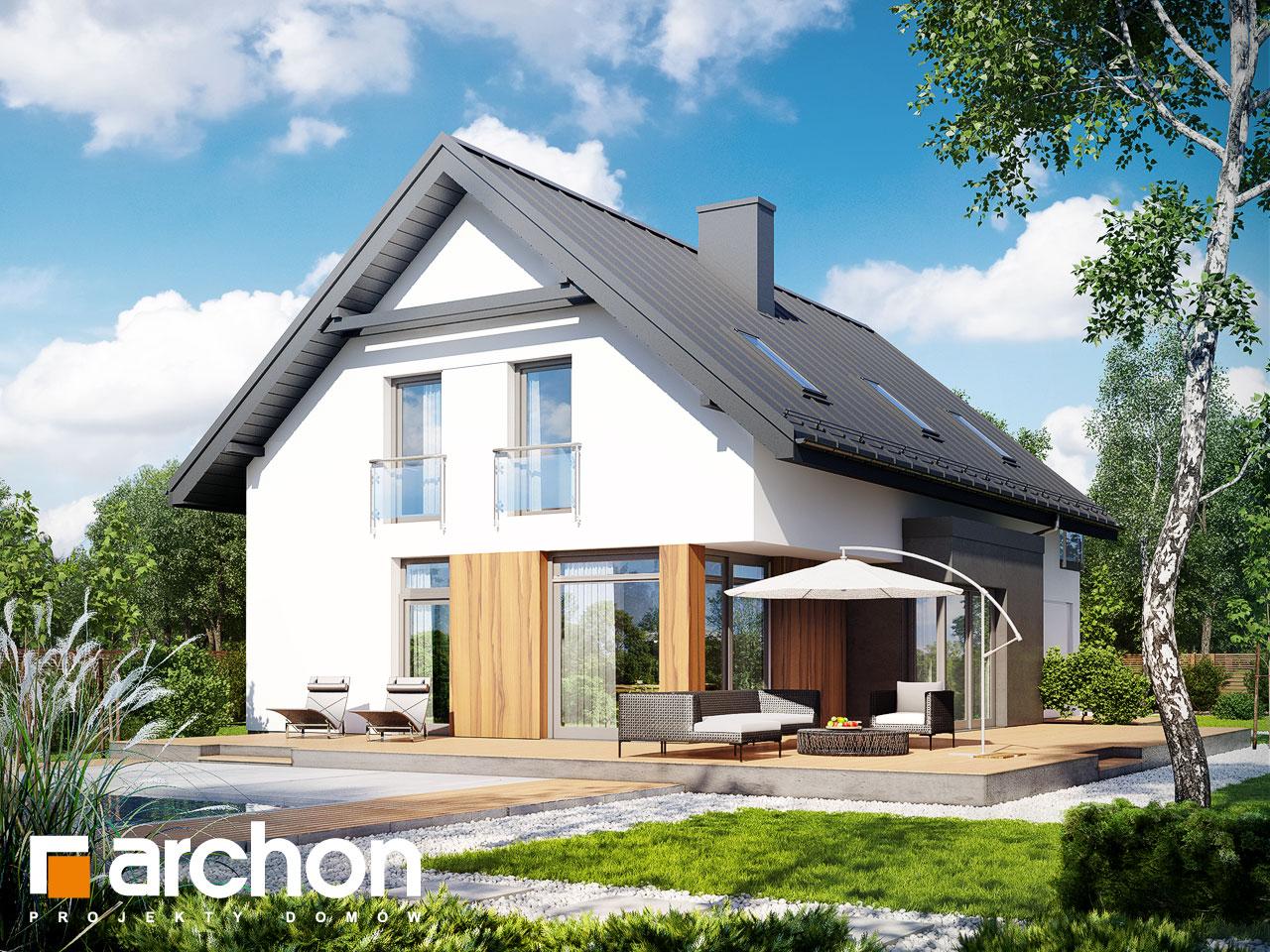 Проект дома ARCHON+ Дом под хикорой Вид 2