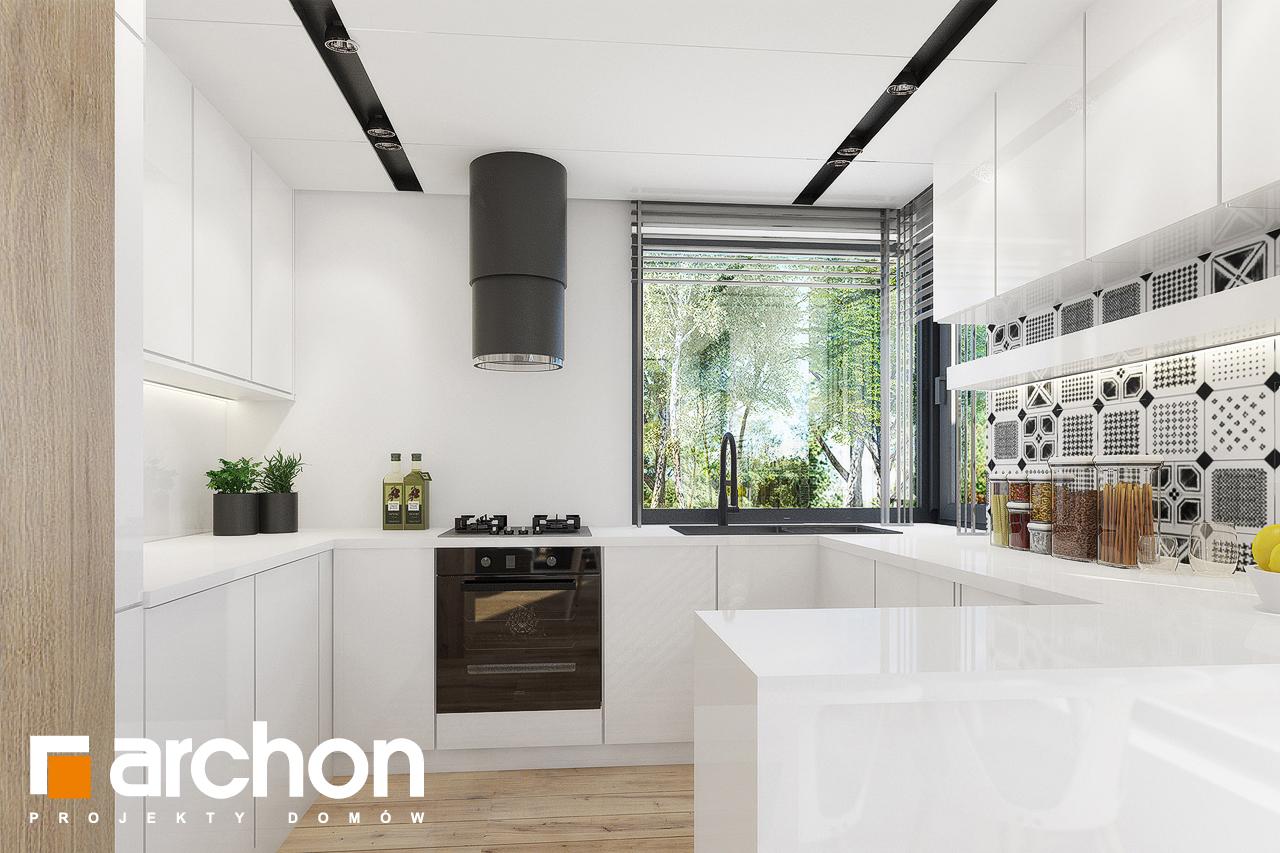 Проект будинку ARCHON+ Будинок в журавках 2 візуалізація кухні 1 від 3