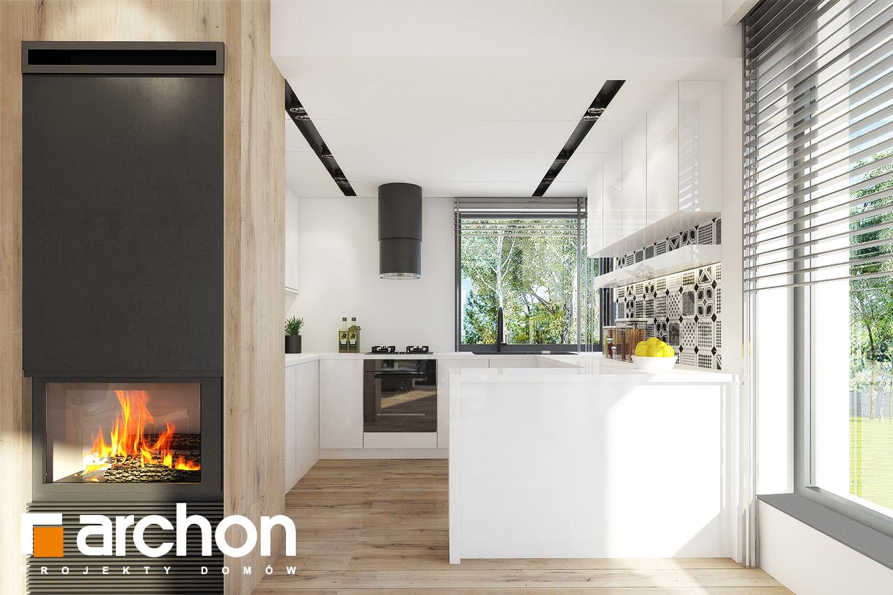 Проект дома ARCHON+ Дом в журавках 2 визуализация кухни 1 вид 1