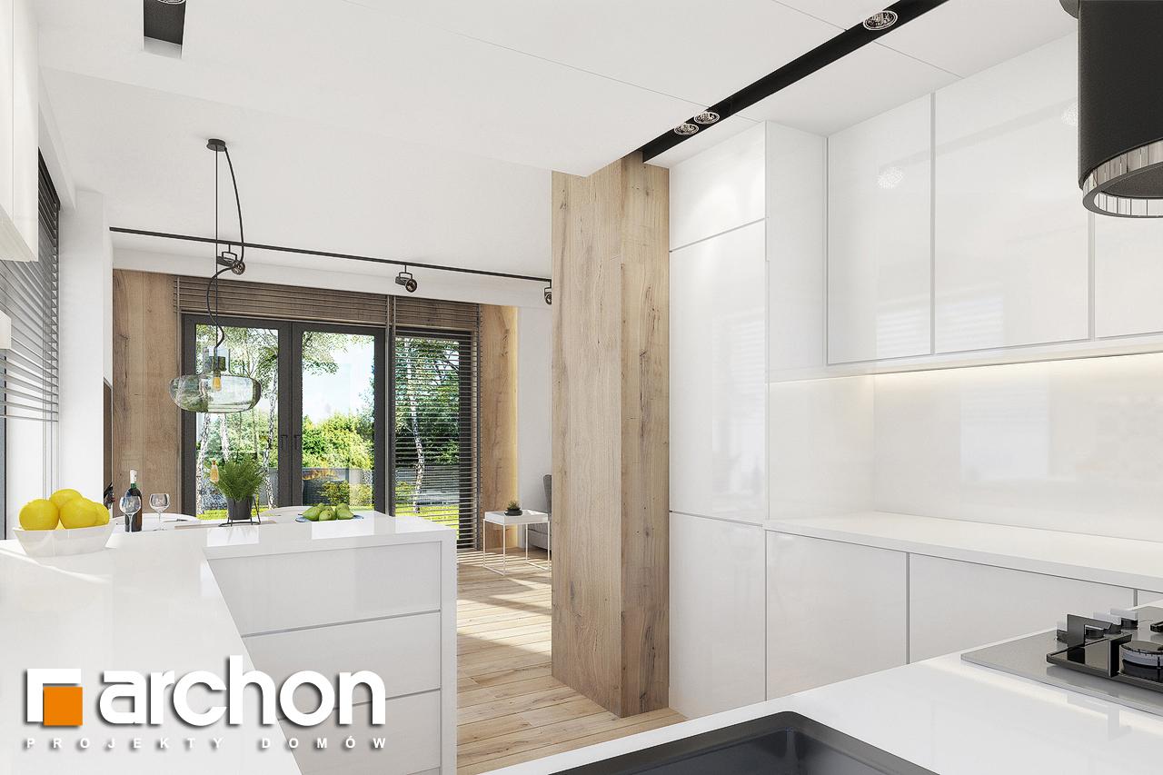 Проект дома ARCHON+ Дом в журавках 2 визуализация кухни 1 вид 2