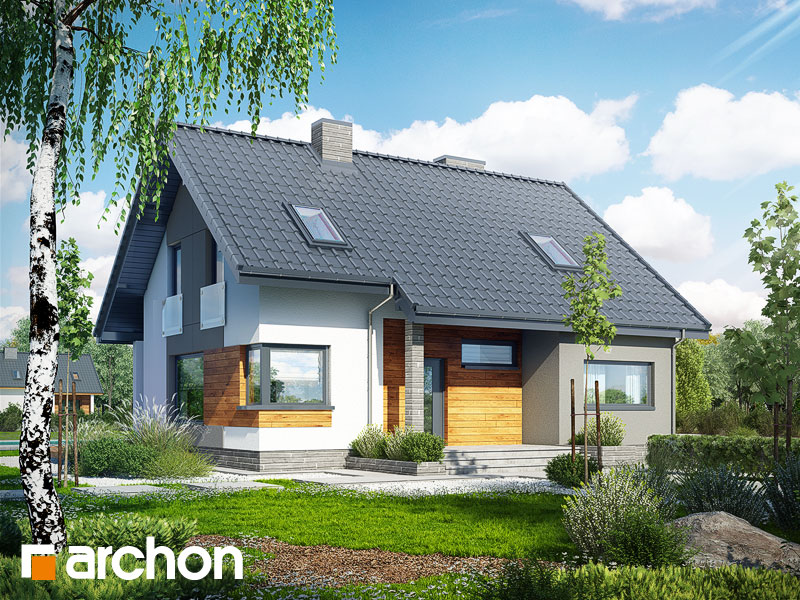 Проект дома ARCHON+ Дом в журавках 2 Вид 1
