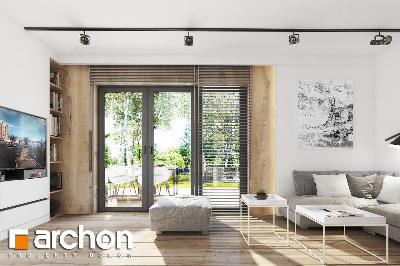 Проект дома ARCHON+ Дом в журавках 2 дневная зона (визуализация 1 вид 2)