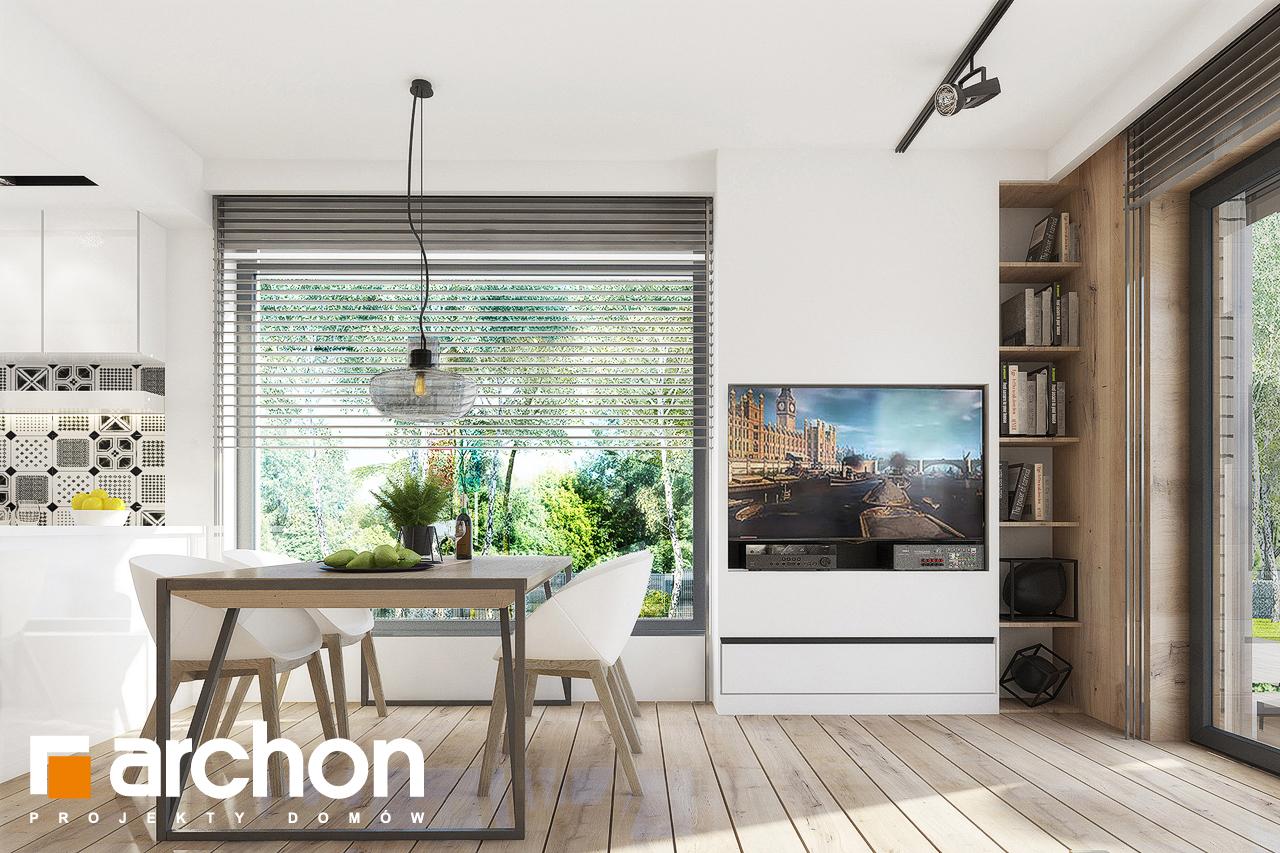Проект дома ARCHON+ Дом в журавках 2 дневная зона (визуализация 1 вид 1)