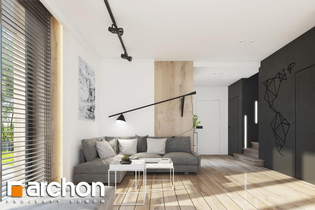 Проект дома ARCHON+ Дом в журавках 2 дневная зона (визуализация 1 вид 3)