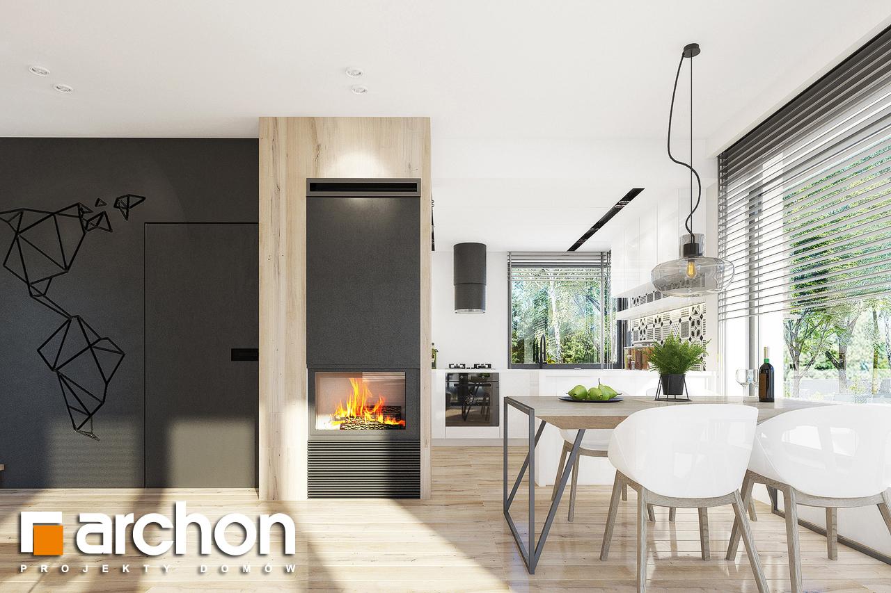 Проект дома ARCHON+ Дом в журавках 2 дневная зона (визуализация 1 вид 4)