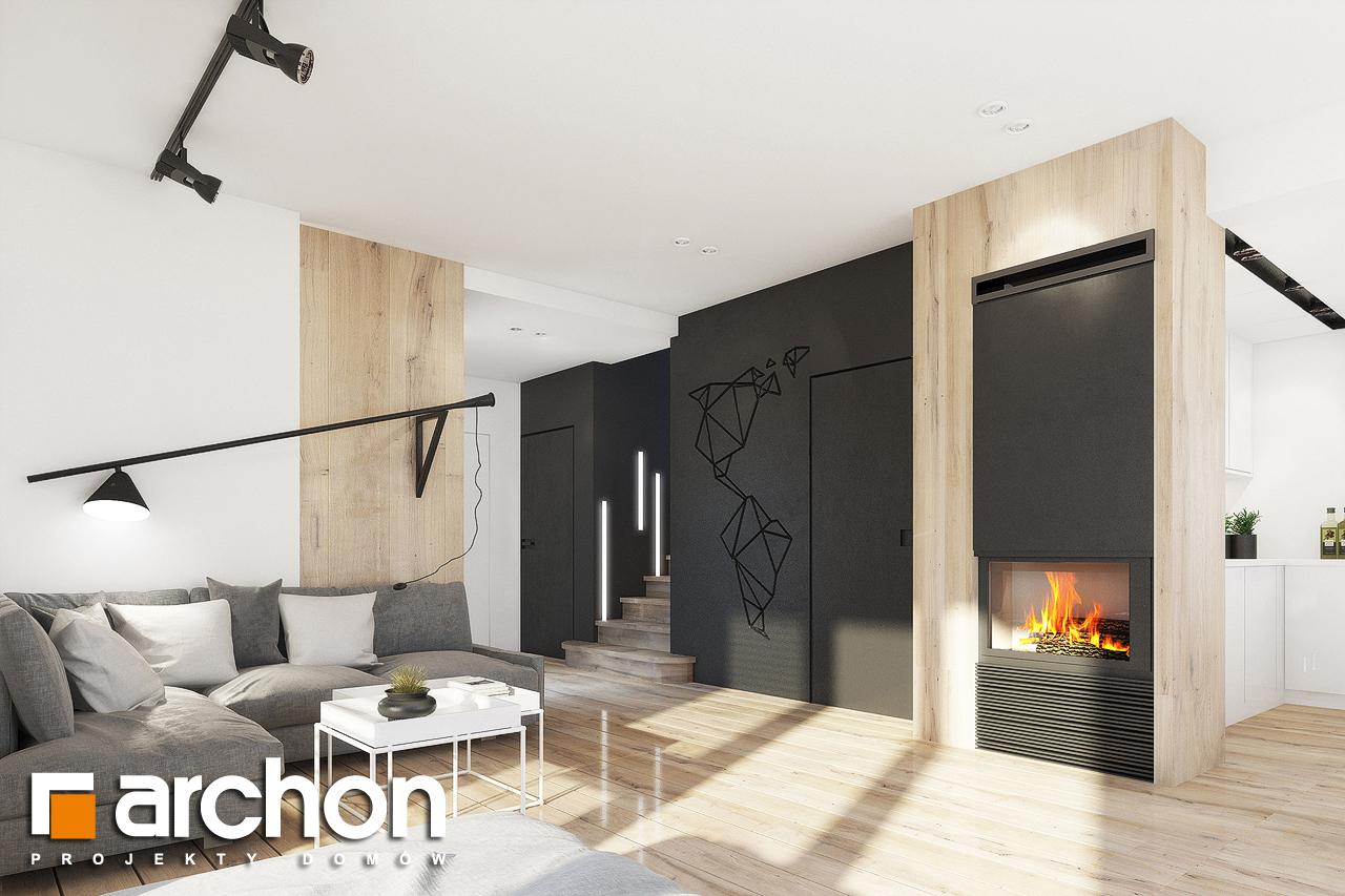 Проект дома ARCHON+ Дом в журавках 2 дневная зона (визуализация 1 вид 5)