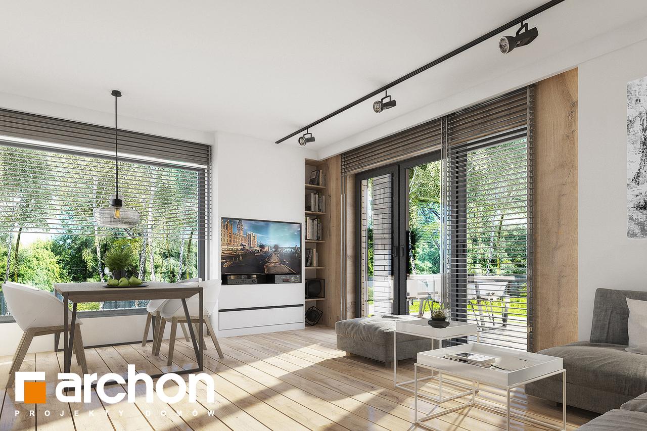Проект дома ARCHON+ Дом в журавках 2 дневная зона (визуализация 1 вид 6)