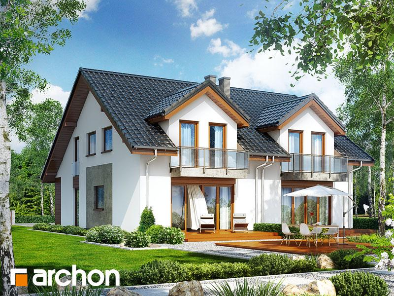Проект будинку ARCHON+ Будинок під гінко (ГБСМ) візуалізація усіх сегментів