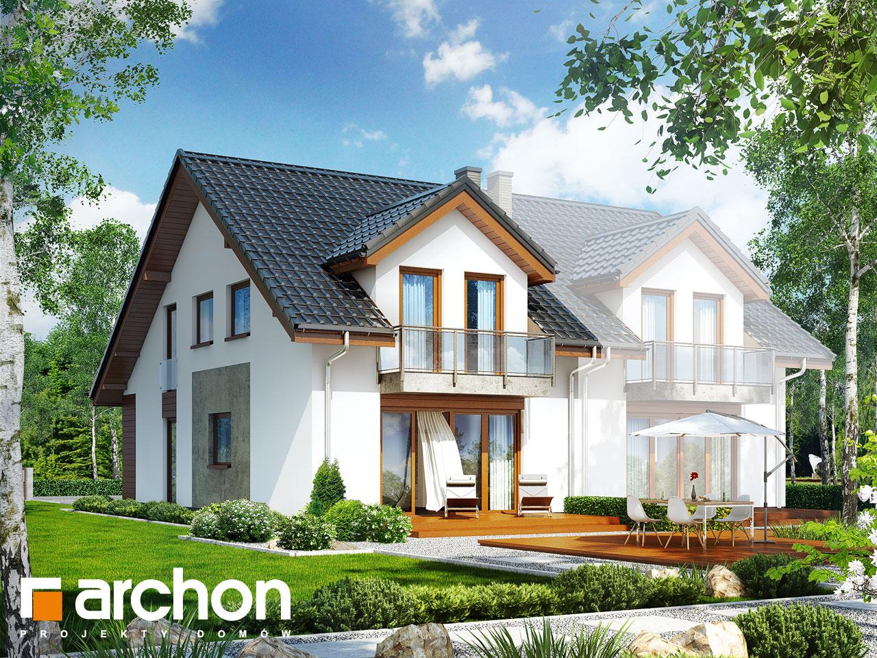 Проект будинку ARCHON+ Будинок під гінко (ГБСМ) Вид 2