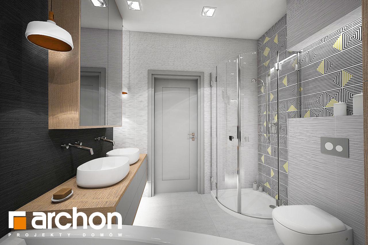 Проект будинку ARCHON+ Будинок в бузку 2 візуалізація ванни (візуалізація 3 від 2)