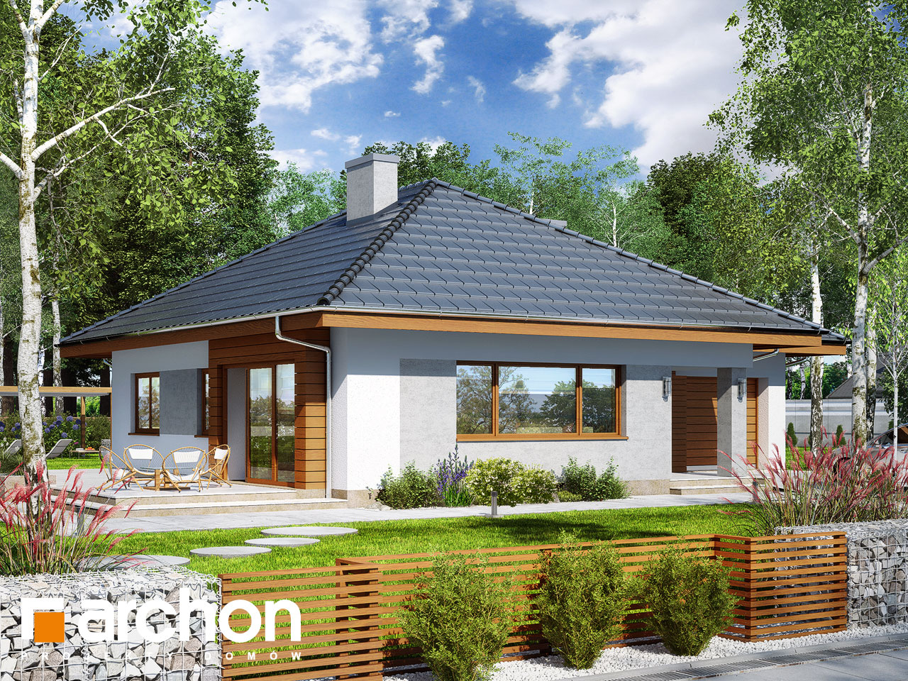 Проект будинку ARCHON+ Будинок в бузку 2 Вид 2