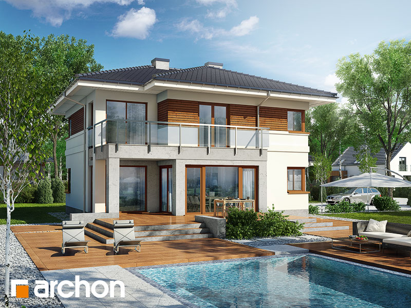 Проект дома ARCHON+ Вилла Элиза Вид 1