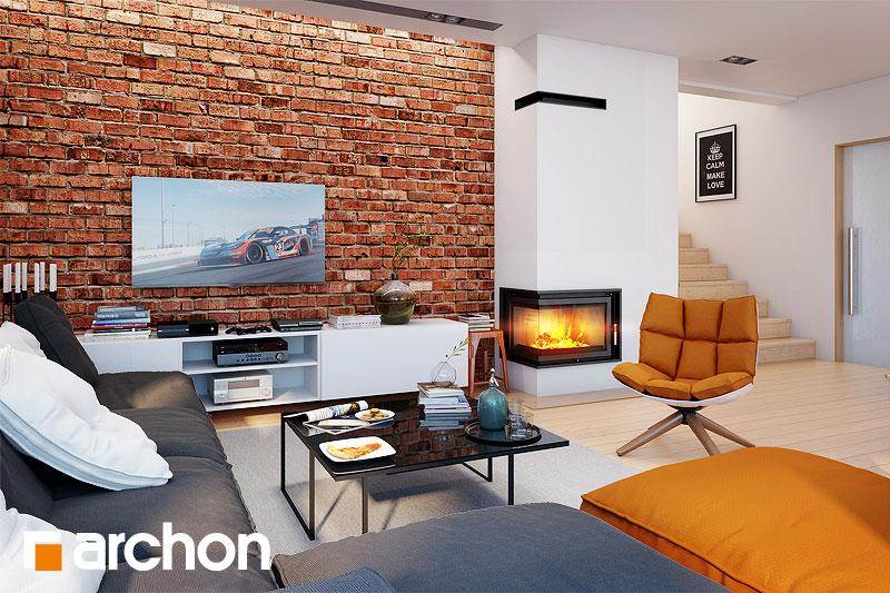 Проект дома ARCHON+ Вилла Элиза дневная зона (визуализация 1 вид 3)