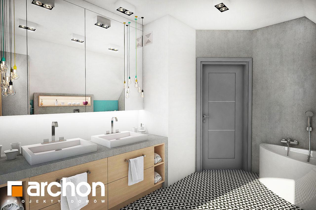 Проект будинку ARCHON+ Будинок в журавках 3 візуалізація ванни (візуалізація 3 від 2)