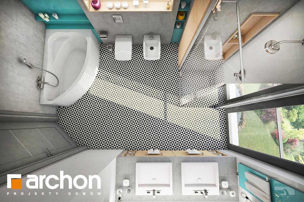 Проект будинку ARCHON+ Будинок в журавках 3 візуалізація ванни (візуалізація 3 від 4)