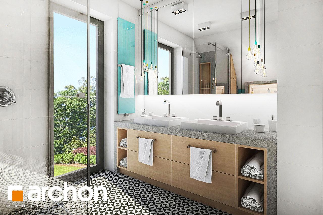 Проект дома ARCHON+ Дом в журавках 3 визуализация ванной (визуализация 3 вид 1)