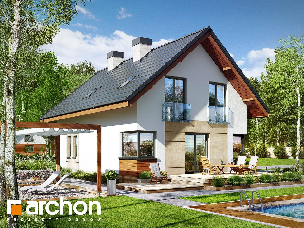 Проект будинку ARCHON+ Будинок в журавках 3 Вид 2