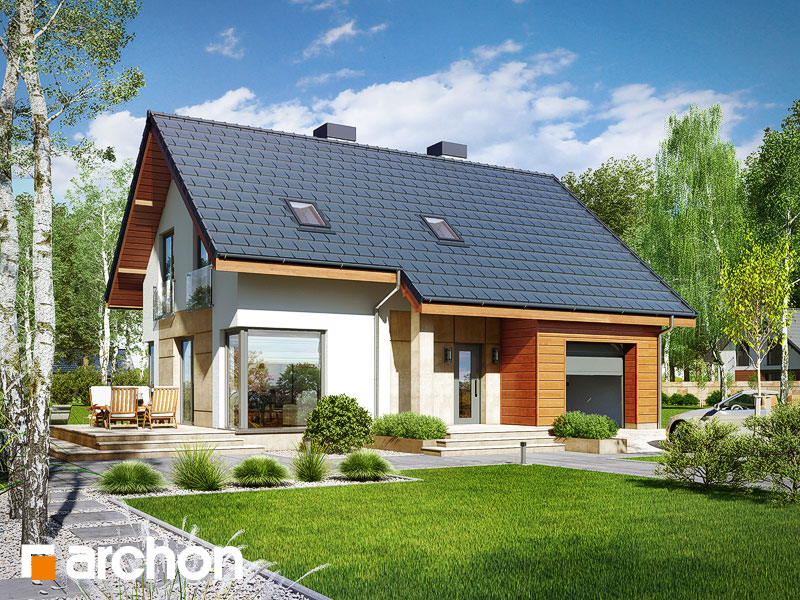 Проект дома ARCHON+ Дом в журавках 3 Вид 1