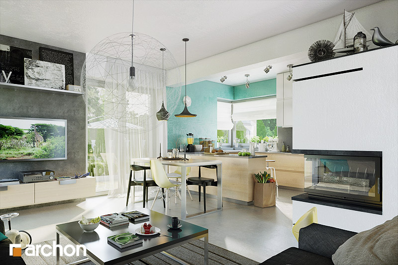 Проект будинку ARCHON+ Будинок в журавках 3 денна зона (візуалізація 1 від 1)