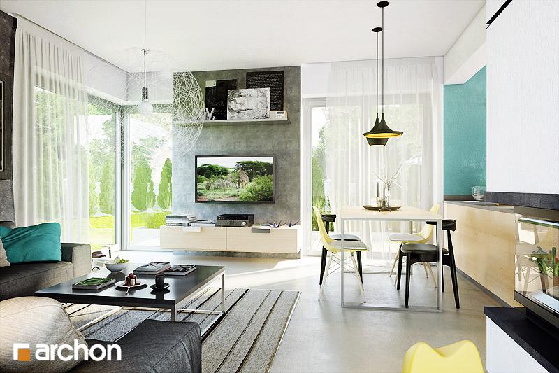 Проект дома ARCHON+ Дом в журавках 3 дневная зона (визуализация 1 вид 3)