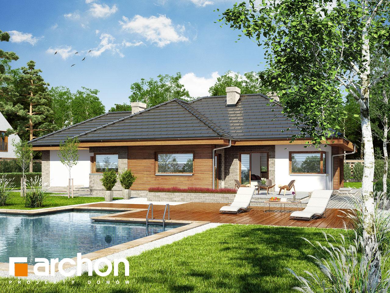 Проект будинку ARCHON+ Будинок під ціцербітою (Г2) Вид 2