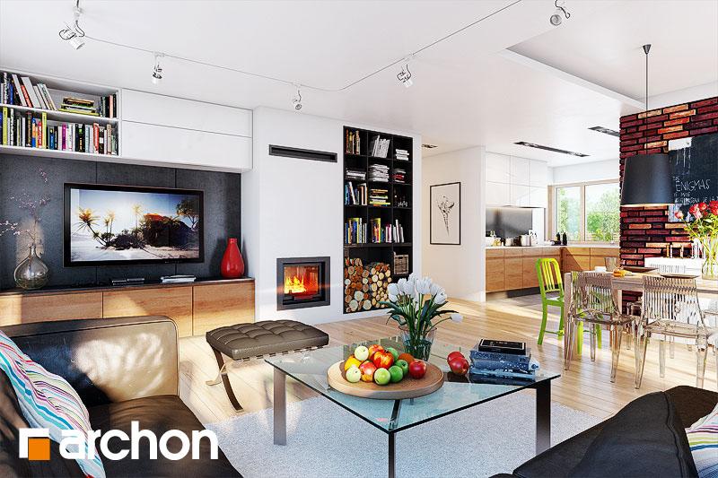 Проект будинку ARCHON+ Будинок під ціцербітою (Г2) денна зона (візуалізація 1 від 1)