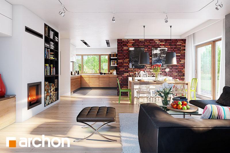 Проект будинку ARCHON+ Будинок під ціцербітою (Г2) денна зона (візуалізація 1 від 2)