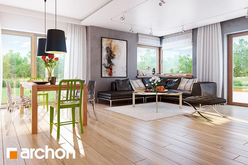 Проект будинку ARCHON+ Будинок під ціцербітою (Г2) денна зона (візуалізація 1 від 3)