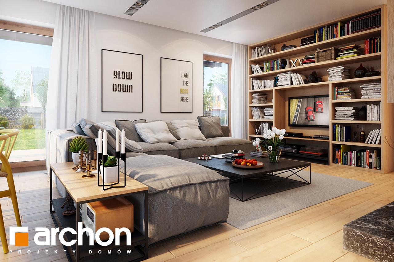 Проект будинку ARCHON+ Будинок під ацеролею денна зона (візуалізація 1 від 1)