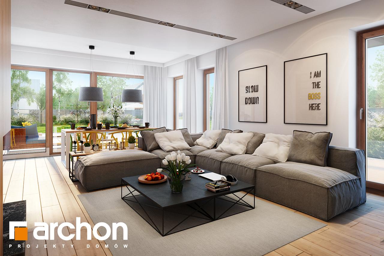 Проект будинку ARCHON+ Будинок під ацеролею денна зона (візуалізація 1 від 2)