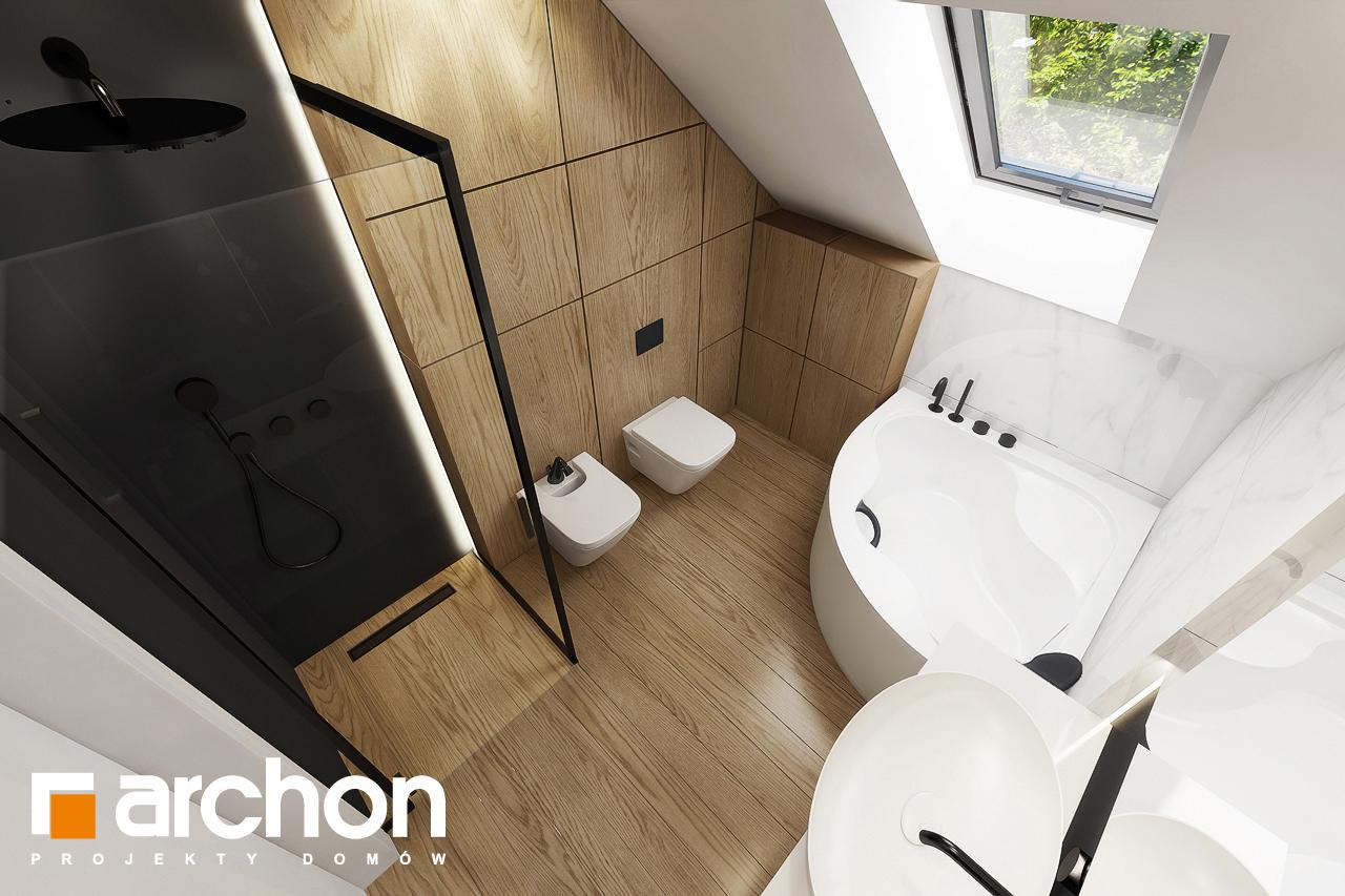 Проект будинку ARCHON+ Будинок в яблонках 2 візуалізація ванни (візуалізація 3 від 4)