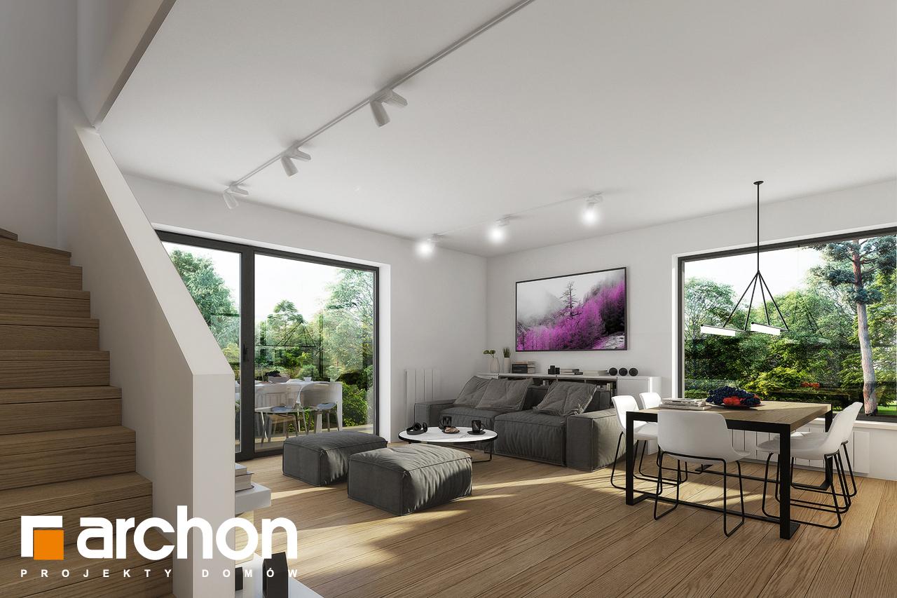 Проект будинку ARCHON+ Будинок в яблонках 2 денна зона (візуалізація 1 від 2)