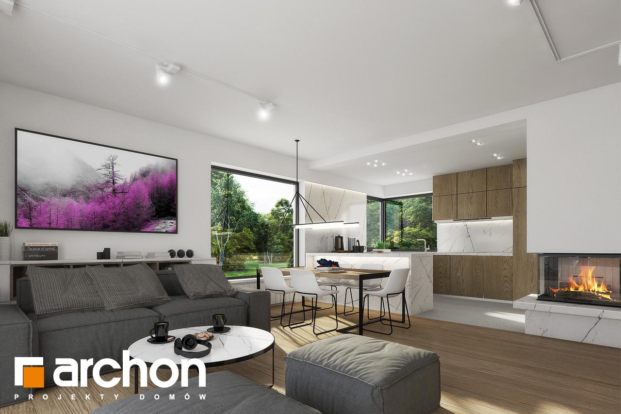 Проект будинку ARCHON+ Будинок в яблонках 2 денна зона (візуалізація 1 від 3)