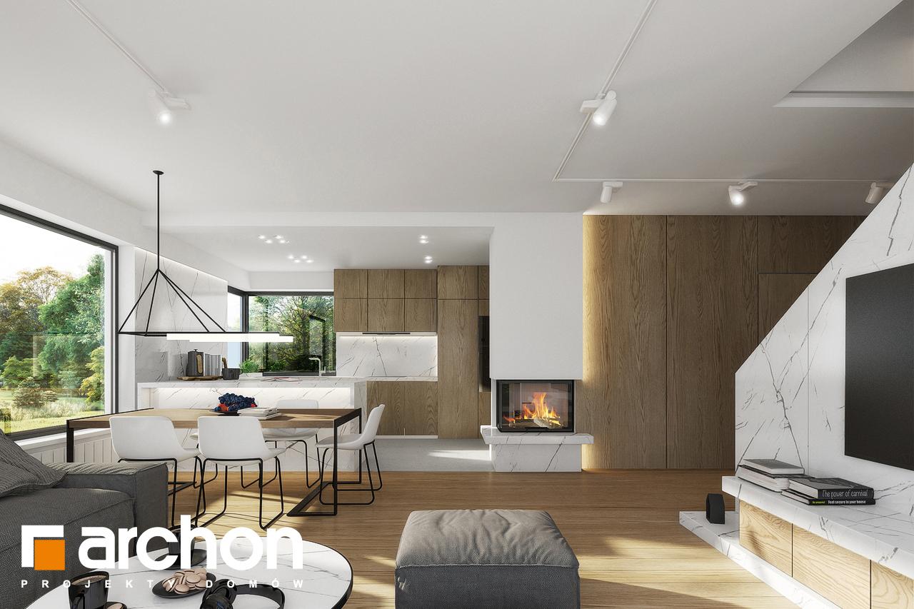 Проект будинку ARCHON+ Будинок в яблонках 2 денна зона (візуалізація 1 від 6)