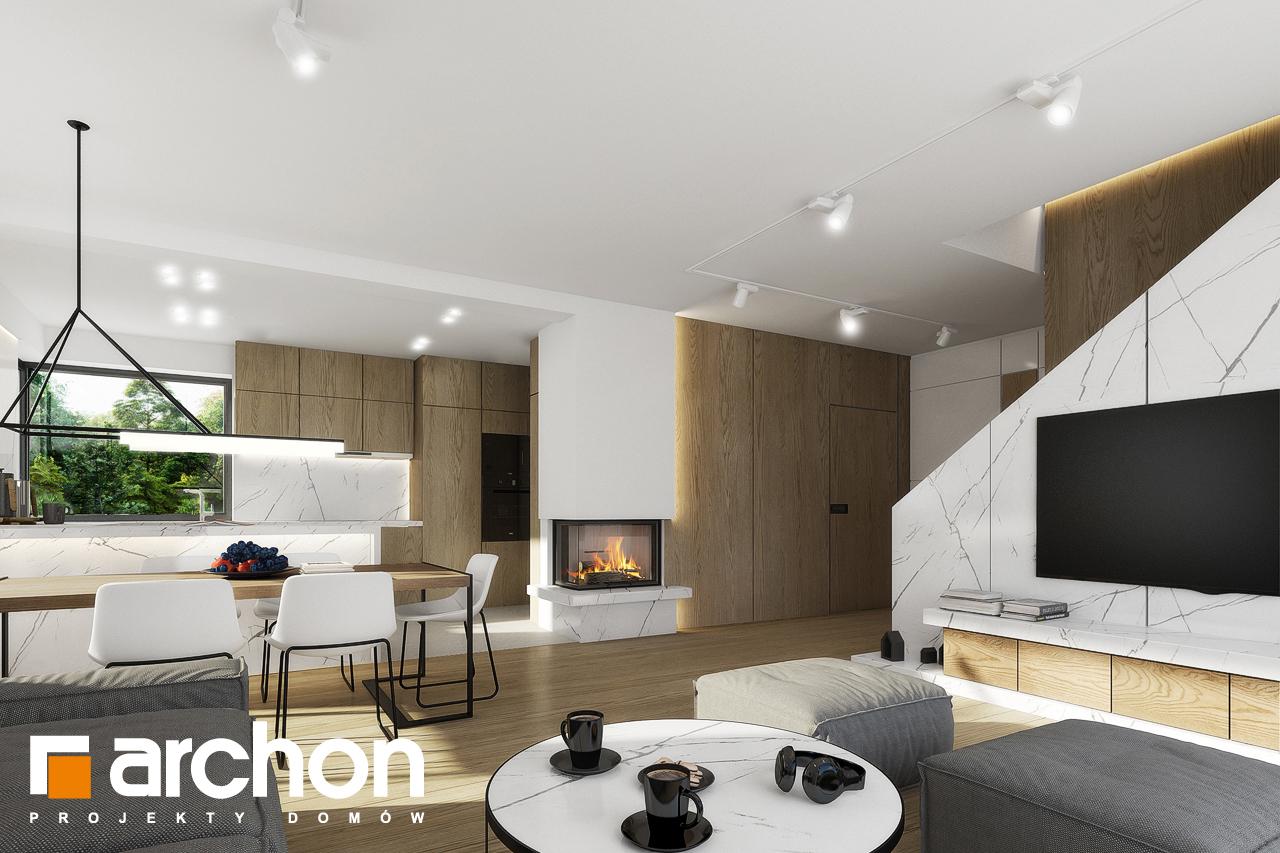 Проект будинку ARCHON+ Будинок в яблонках 2 денна зона (візуалізація 1 від 8)