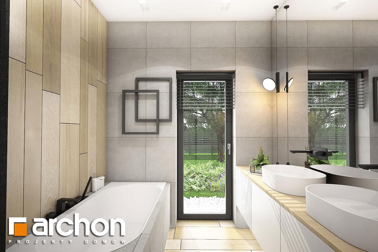 Проект дома ARCHON+ Дом в пеперомиях (Г2) визуализация ванной (визуализация 3 вид 1)