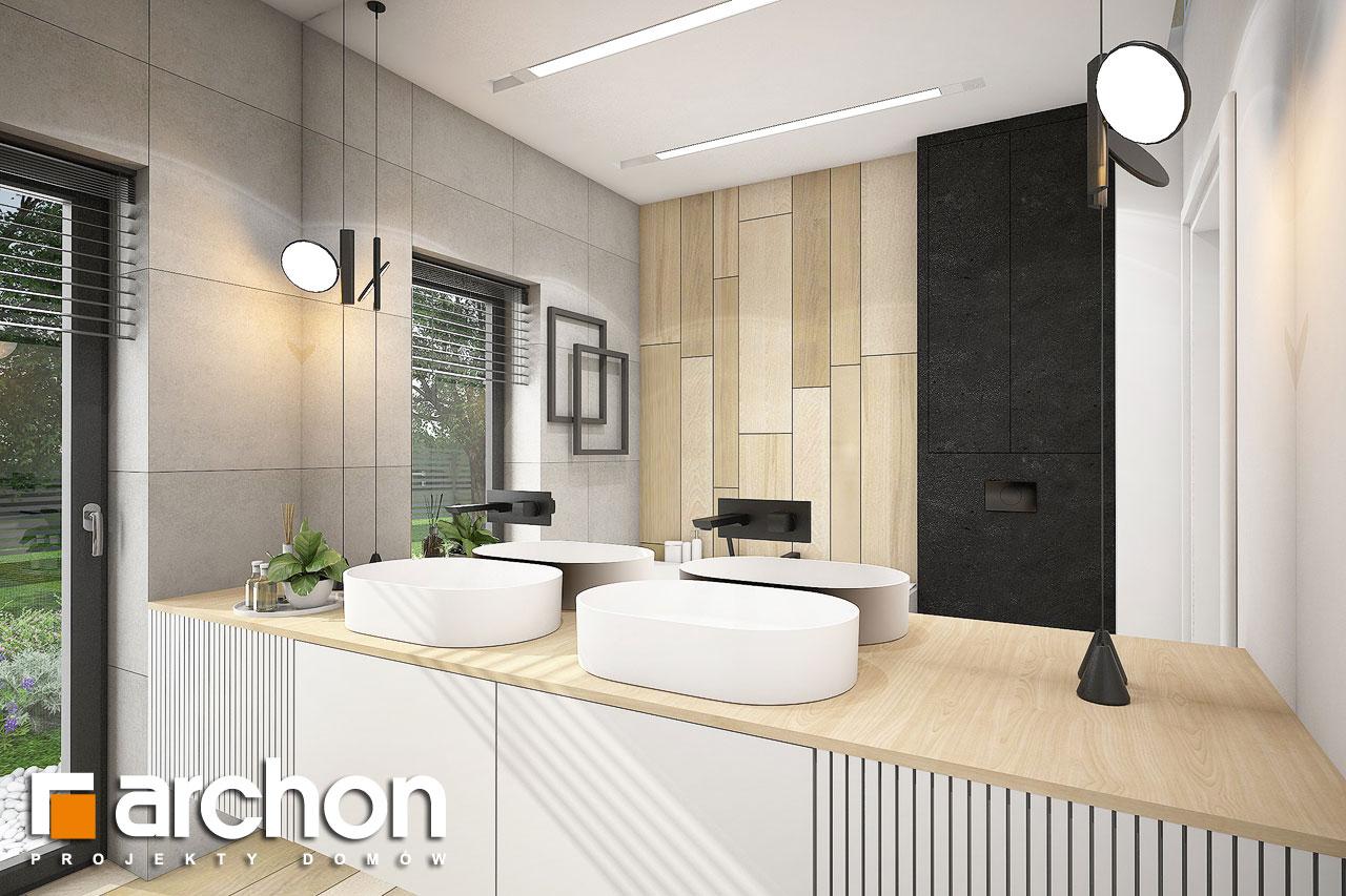 Проект дома ARCHON+ Дом в пеперомиях (Г2) визуализация ванной (визуализация 3 вид 2)