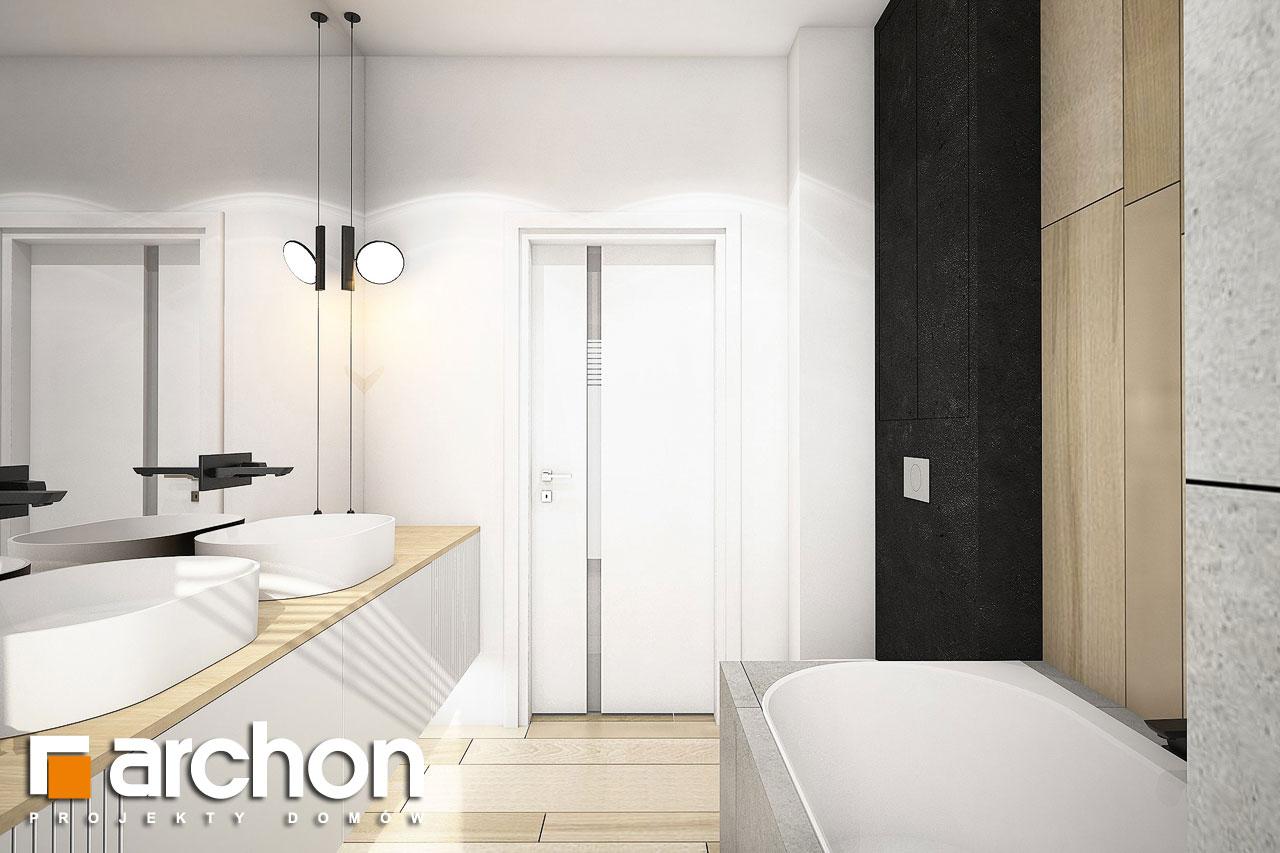 Проект дома ARCHON+ Дом в пеперомиях (Г2) визуализация ванной (визуализация 3 вид 3)