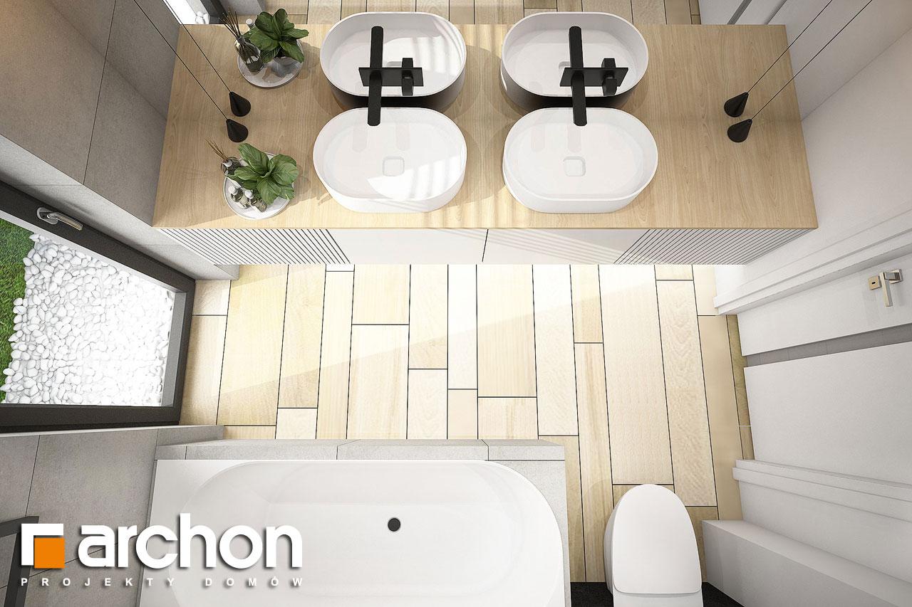 Проект дома ARCHON+ Дом в пеперомиях (Г2) визуализация ванной (визуализация 3 вид 4)