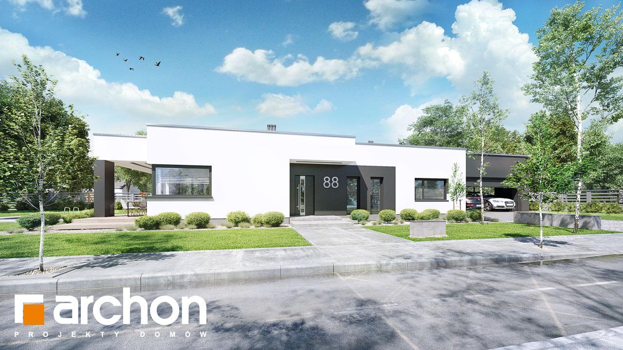 Проект будинку ARCHON+ Будинок в пепероміях (Г2) Вид 2